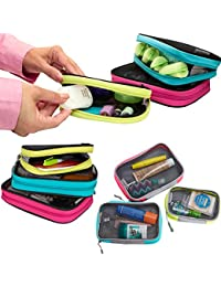 Set 3 Travel Packing Squares Cubes Organizers Makeup Toiletry Case Bag