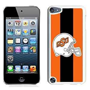 NEW Personalized Customized Ipod 5 Case with NCAA Big 12 Conference Big12 Football Oklahoma State Cowboys 6 Protective Cell Phone Hardshell Cover Case for Ipod 5th Generation White