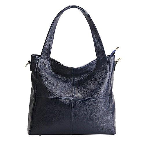 bandoulière cuir Sac fashion Sac à en LF Sac 1823 Sac main DISSA femme main épaule portés portés Bleu 0Ac7Ba14W