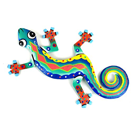 Zigzag Red Spine Metal Gecko-8