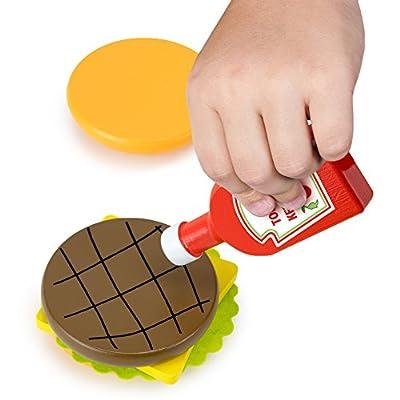 Imagination Generation Wood Eats! Backyard Barbecue Condiments Set (5pcs): Toys & Games