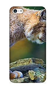 Wdqeft-972-cmyneug Exultantor Awesome Case Cover Compatible With Iphone 5c - Animal Lynx