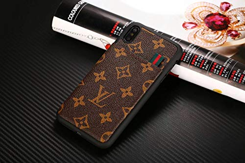 iPhone 11 Pro Max Case, Fashion Elegant Luxury Classic Logo with with Card Holder Case Cover for iPhone 11 Pro Max, Black
