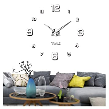 Vangold Moderne Mute Diy Große Wanduhr 3d Aufkleber Home Office