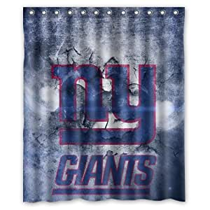 Vintage Design NFL New York Giants New Style Polyester Bathroom Shower Curtain 60(W)x72(H)