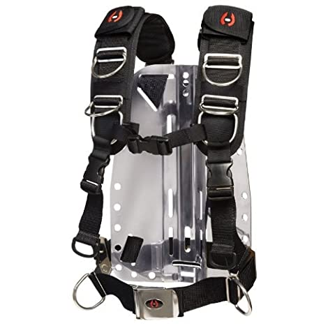 New Hollis Elite II Adjustable Scuba Diving Harness System w/o Backplate (Size X-Large/2X-Large) - Backplate Wing