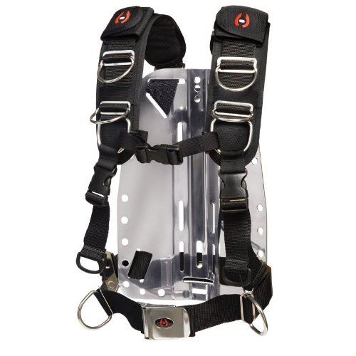 Hollis New Elite II Adjustable Scuba Diving Harness System w/o Backplate (Size X-Small/Small)/LID