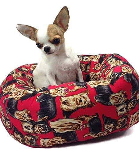 Amazon.com: Yorkie Yorkshire Terrier Round Pet Bed: Handmade