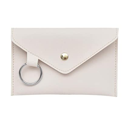 465e6192260e2 Amazon.com: Women's Artificial Leather Slim Pure Color Ring Crossbody  Satchel Chest Bag, Shoulder Bag (White): Computers & Accessories