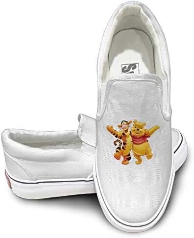 Winnie The Pooh Tigger Fashion Slip On Canvas Sneakers Black