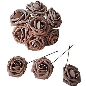 50 pcs Artificial Flowers Foam Roses for Bridal Bouquets Wedding Centerpieces Kissing Balls 5