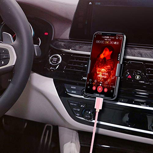iPhone Car Aux Cable,[Apple MFi Certified] Lightning to a few.5mm AUX Audio Nylon Braided Cable Compatible for iPhone SE/11/XS/XR/8/7/iPad/iPod to Car Speaker/Headphone Support All iOS Version-3.3ft Pink