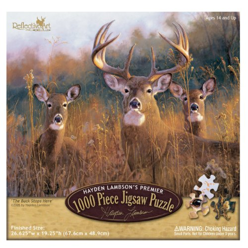 Reflective Art The Buck Stops Here Jigsaw Puzzle, 1000-Piece