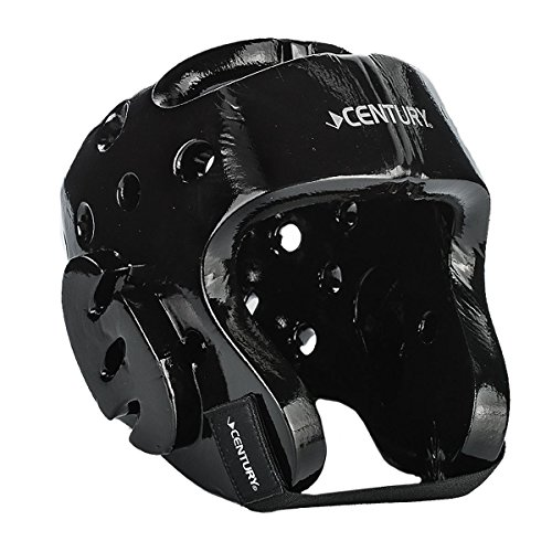 Macho Face Shield - Century Sparring Head Gear with Evolution Face Shield Black Youth