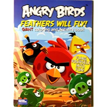 Amazon Angry Birds Coloring Book Feathers Will Fly