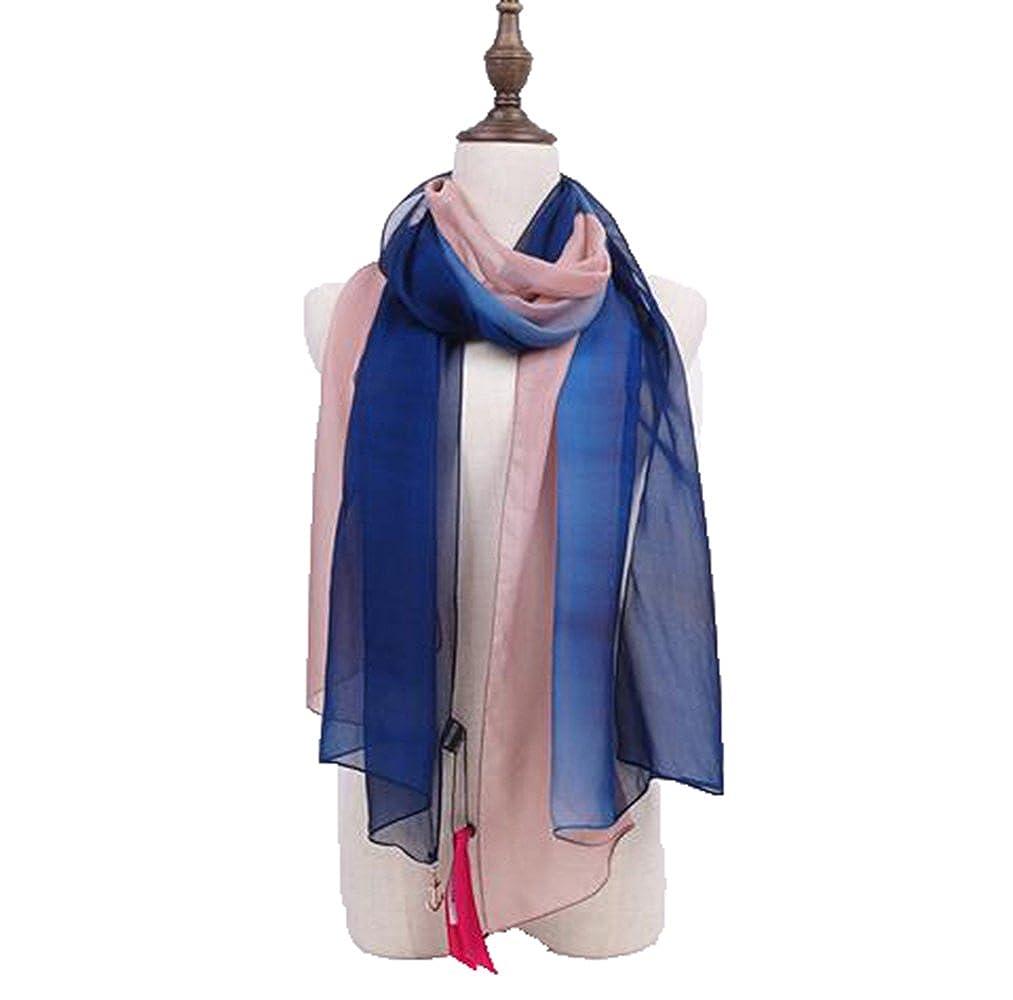 Fengteng Nuevas Bufandas Mujer Gradualmente Cambio De Color Bufandas De Seda Mujer Directa Directa Mujer Bufandas Venta al por mayor Toallas de playa de ...