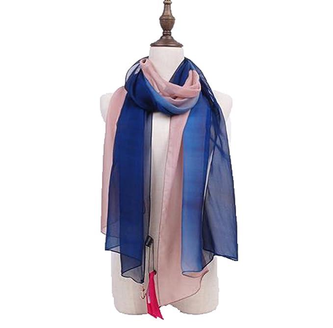 Fengteng Nuevas Bufandas Mujer Gradualmente Cambio De Color Bufandas De Seda Mujer Directa Directa Mujer Bufandas