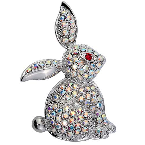 Szxc Jewelry Easter Bunny Rabbit Custom Brooch Pin For Women Teen Girls (white)