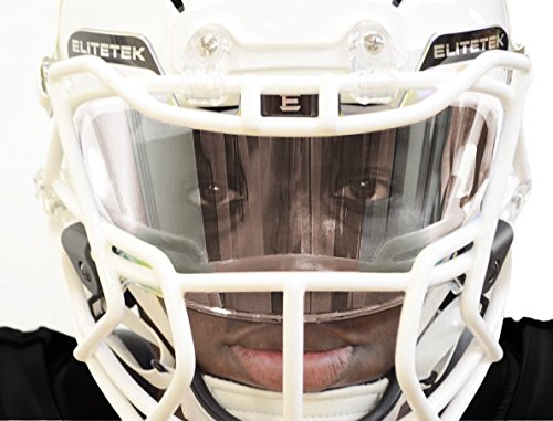 EliteTek Football & LAX Lacrosse Eye-shield Visor (Clear)
