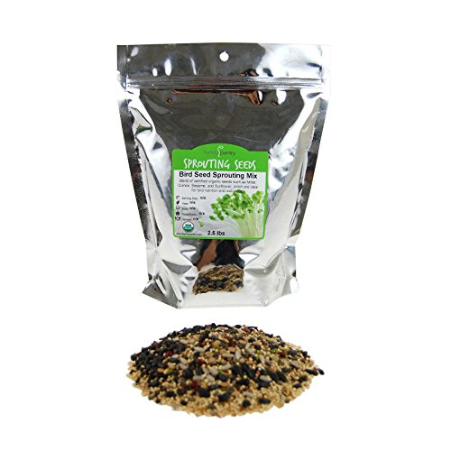 Handy Pantry Organic Birdseed - 2.5 Lb - Sprouting Bird Seed Mix for Small, Medium & Large Birds- Feed for Songbirds, Parakeets, Parrots, etc ()