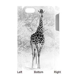 3D Bumper Plastic Case Of Giraffe customized case For iPhone 5c