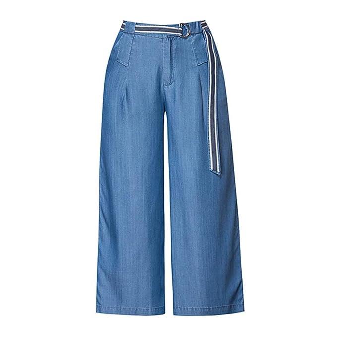 Pantalones Casuales de Las Mujeres Pantalones Vaqueros ...