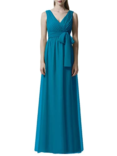 Hanxue Women's Chiffon Bridesmaid Dresses Long Evening Dress