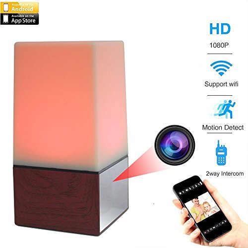 MAGHO Hidden Camera WiFi Night Light,1080P Hd Spy Covert Nanny Cam with 10pcs Ir for Night Vision, 2.4Ghz Secret Home/Office Security/Pet/Baby Monitor System with Motion Detect for Android/iOS Device