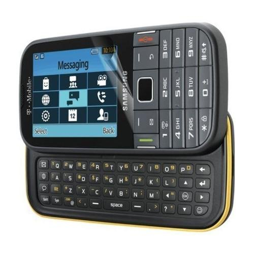 Samsung T379 'Gravity TXT' Unlocked Cell Phone - Black/Yellow. (2G: GSM 850 / 900 / 1800 / 1900 ) (Tmobile Cell Phones Slide)