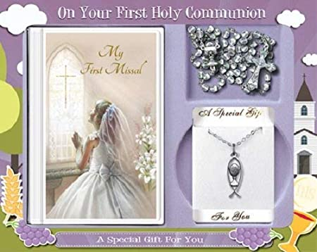 First Holy Communion gift set for girls.