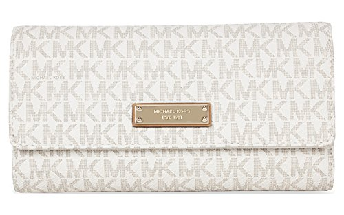 Michael Michael Kors Womens Jet Set Signature Checkbook Wallet by MICHAEL Michael Kors