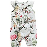 Famuka Baby Girl Romper Summer Cotton Bodysuit
