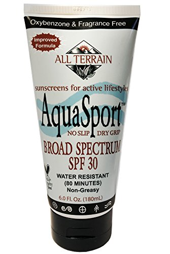 All Terrain AquaSport SPF 30 6oz, Water Resistant Mineral Sunscreen, Oxybenzone & Octinoxate Free, Using Natural Ingredients, UV Protection