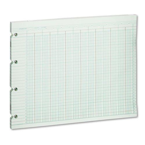 Wilson Jones - Accounting Sheets, 24 Column, 9-1/4 x 11-7/8, 100 Loose Sheets/Pack, Green G10-24 (DMi PK