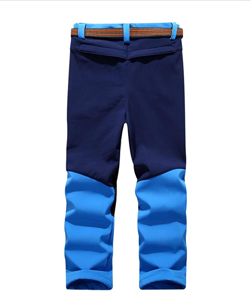 Shaoyao Enfants Pantalon Velours Imperm/éable Outdoor Camping Randonn/ée Trekking Pantalons De Ski