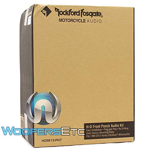Rockford Fosgate 300 Watt Front Audio Kit for 1998-2013 Harley Davidson Motorcycles ()