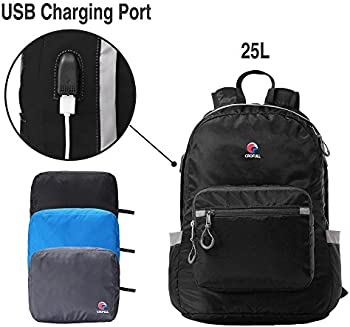 Crofull Folding Backpack with USB Charging Port