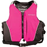 Extrasport Youth Inlet Personal Flotation Device/Life Jacket Fits 50-90 -Pound, Hot Pink/Black