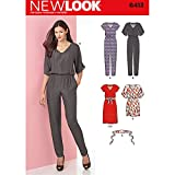 NEW LOOK Patterns Misses' Jumpsuit and Dress in Two Lengths Size: A (8-10-12-14-16-18-20), 6413