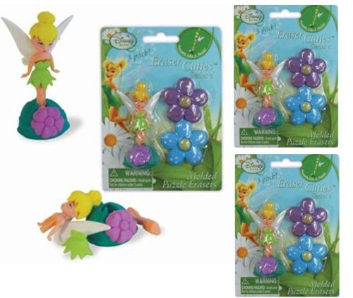 [Tinkerbell Puzzle erasers x 3 pack] (Tinkerbell Erasers)