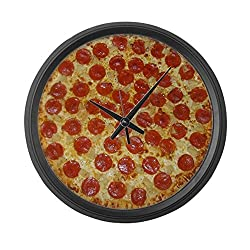 CafePress - Extra Large Pizza Wall Clock - Large 17 Round Wall Clock, Unique Decorative Clock