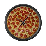 CafePress – Extra Large Pizza Wall Clock – Large 17″ Round Wall Clock, Unique Decorative Clock For Sale