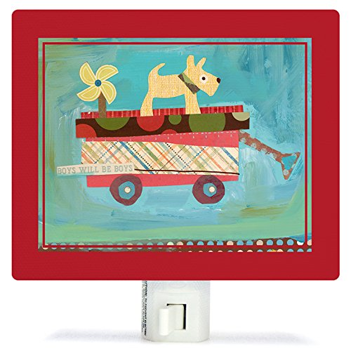 Oopsy Daisy Fine Art for Kids NL6212MW Pup on a Wagon Nig...
