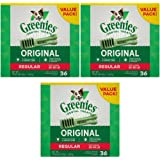 Greenies Dental Chews Value Size 36oz Tub. Regular, 36ct