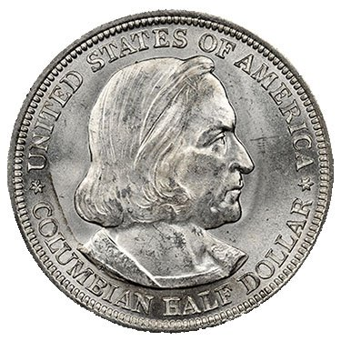 Commemorative Half Dollar Gem - 1893 50C Columbian Exposition Chicago Silver Commemorative Half Dollar Gem Uncirculated