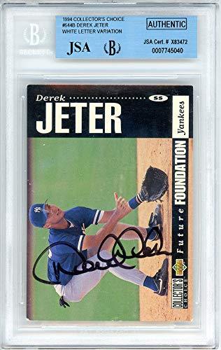 (Derek Jeter Signed Auto 1994 Upper Deck Collector's Choice Rookie Card #644B New York Yankees Steiner Holo - JSA Certified)