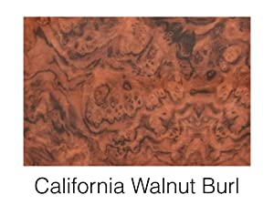 "Boat Blank Dash Panel Material - Woodgrain California Walnut Burl 24"" x 48"" x 3/16"""
