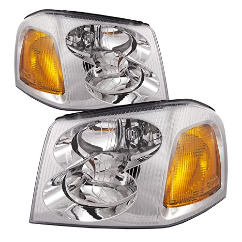 - Headlights Depot Replacement for GMC Envoy Headlight OE Style Replacement Headlamp Driver/Passenger Pair New