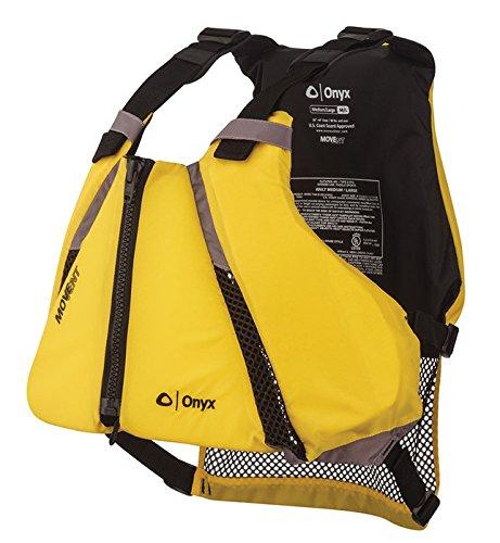 ONYX MoveVent Curve Paddle Sports Life Vest, Yellow, X-Large/XX-Large ()