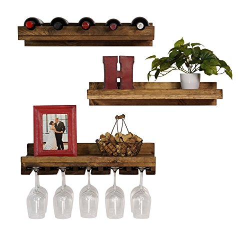 compare price to floating shelves wine glass. Black Bedroom Furniture Sets. Home Design Ideas